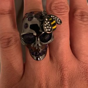 Alexander McQueen Skull Ring size 6